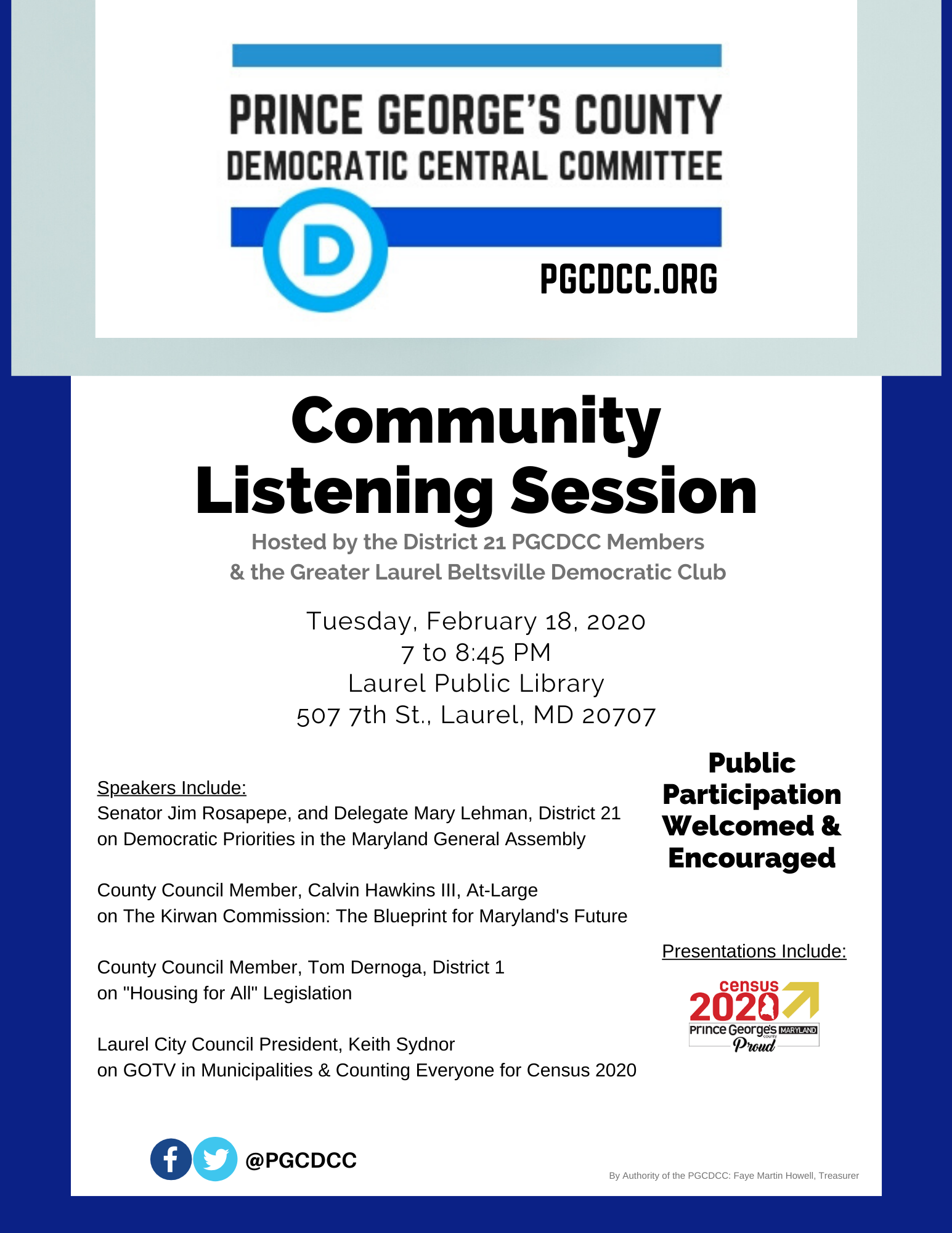 February Community Listening Session
